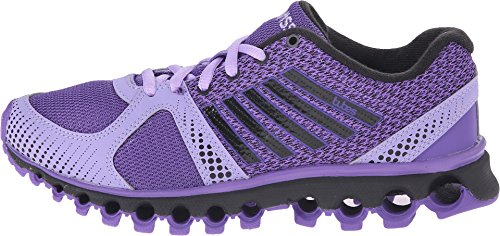 K-Swiss mujeres de 160 CMF tubos Athletic zapatos de flores/tulipanes de color morado/negro