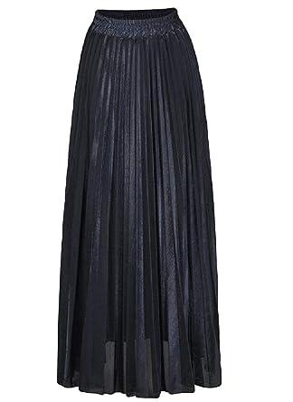 ShuangRun Falda Plisada de Terciopelo para Mujer, Brillante ...