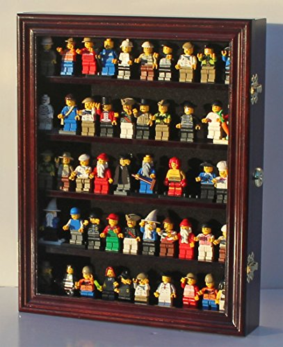 Minifigures Dimensions Display Case Thimble Wall Cabinet LG-CN30 (Mahogany)