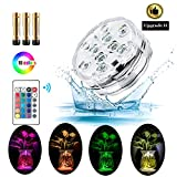Submersible Swimming Pool Led Lights with Remote Controlled Powered by Battery RGB 16 Colors Changable Waterproof IP68 for Hut Tub Garden Halloween Home Decorations and Christmas Party 1 PACK
