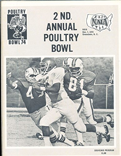 1974 12/7 Poultry Bowl Football program Guilford vs William Penn, Greensboro, nc NAIA from P&R publications