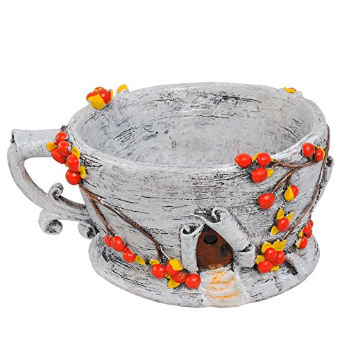 Miniature Fairy Garden Birch Bark Tea Cup Planter
