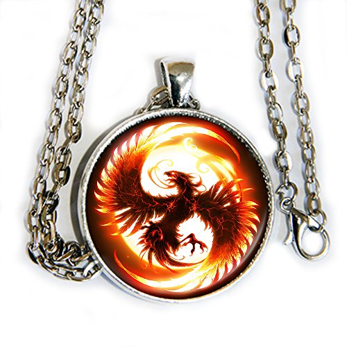 Fangirl Halloween Costumes (Phoenix - Fire Orange - pendant necklace - HM)