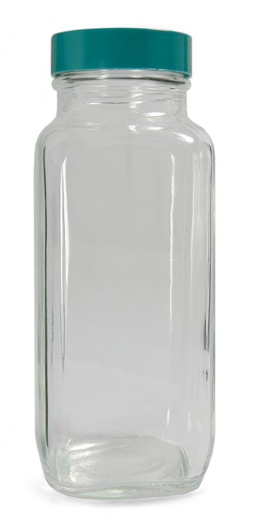 Pack of 6 JG Finneran 9-205 HDPE Standard Wide Mouth Jar with White Polypropylene Closure and F217 Lined 2000mL Capacity 100-400mm Cap Size