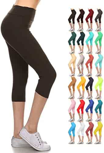 f3b0c7ccbe828b Joyshaper Cutout Leggings with Pockets for Women High Waist Capri Yoga  Pants Workout Running Tights Gym Trousers Activewear