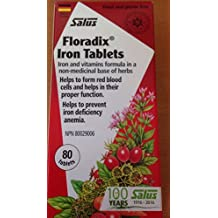 Flora Floradix Herbal Extract Iron Tablets - 80 tablets