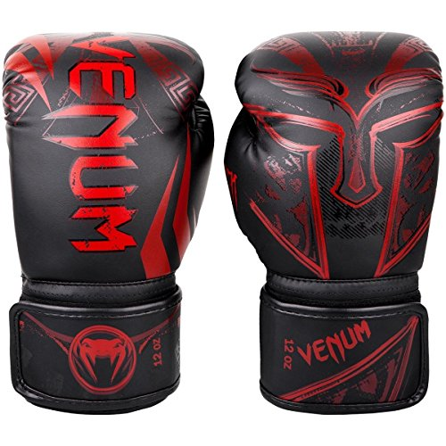 - Venum Gladiator 3.0 Boxing Gloves - Black/Red - 12 Oz