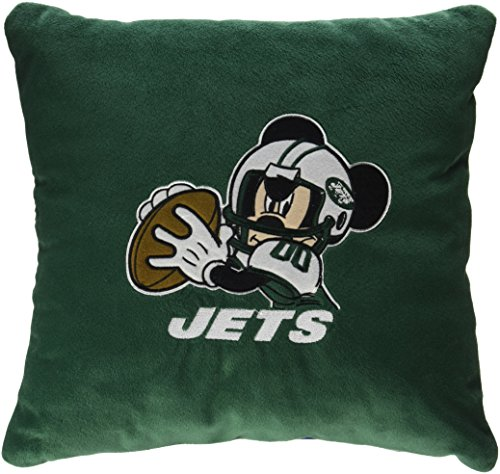 The Northwest Company New York Jets NFL and Disney's Mickey Mouse Plush Toss Pillow (16in x ()