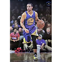 "Stephen Curry No. 30 Basketball Star print poster Size 24""x35"" S-0616"