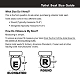 Mayfair Economy Molded Wood Round Toilet Seat, Round, 66TT 000