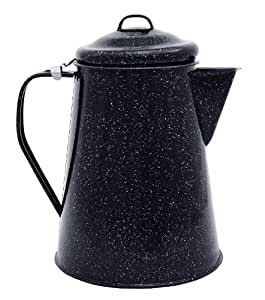 Granite Ware – Coffee, Tea, Water Boiler – For Camping, Travel, and Everyday Use – 3 Quarts