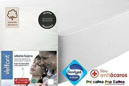 Wasserdicht und Atmungsaktiv Velamen Matratzenschoner und Spannbetttuch Jersey Zwei Produkte in einem Weiss 90x200c