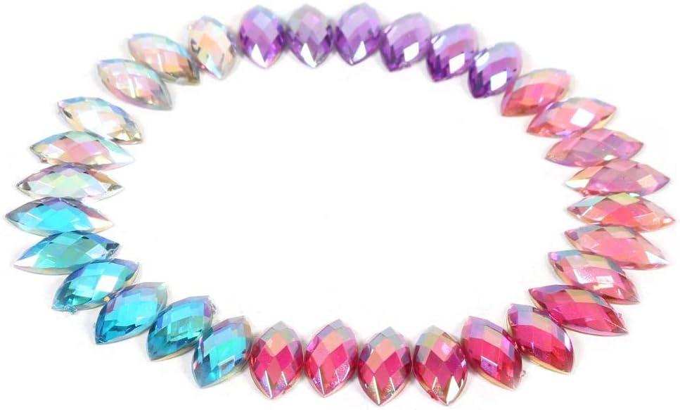 500 piedras brillantes acr/ílicas AB para coser con ojo de caballo 05violet