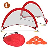 ZENY Portable Pop-Up Soccer Goals, Set of 2, With Cones and Case (4′ Round Soccer goal) Review