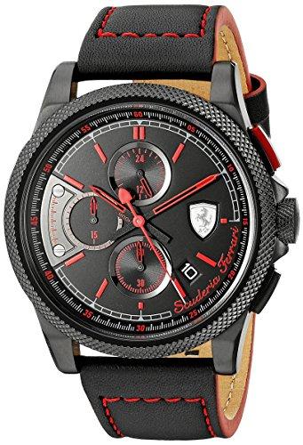 Ferrari-Mens-0830273-FORMULA-ITALIA-S-Analog-Display-Japanese-Quartz-Black-Watch