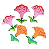 Set of 4 Nursery Classroom Decorate Material Wall Sticker Morning Glory
