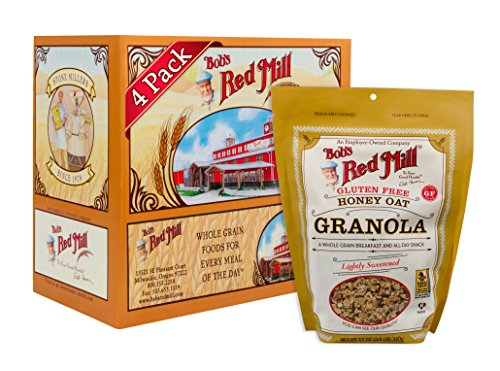 Bob's Red Mill Gluten Free Honey Oat Granola, 12 Ounce (Pack of 4) (Package May ()