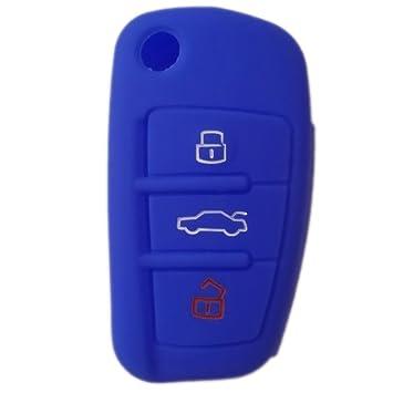 tuqiang® 1 x Azul Llave Cover Llave de Coche para Audi ...