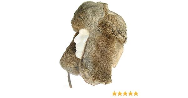 3c3765fd990 Klondike Sterling Russian Rabbit Fur Trooper Hat Ear Flaps Black 9H6621  Trapper