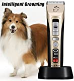 5-Speed Professional Pet Grooming Clippers Heavy Duty, Pet Clippers Kit for Thick Coat Dogs & Cats, LED Screen Indicate Power/Oil/Cleaning