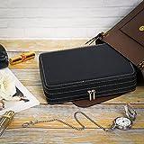 SONGMICS 8-Slot Portable Watch Box Travel Case