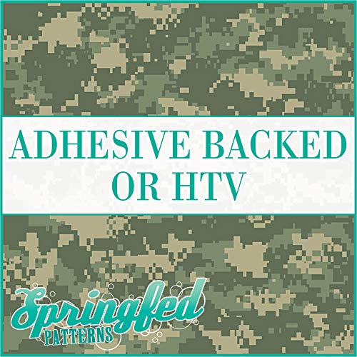 (Digital CAMO Pattern in GREEN Military Camouflage Heat Transfer or Adhesive Vinyl CHOOSE YOUR SIZE!)