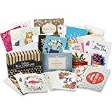 Cortesia All Occasion Premium Greeting Cards Assortment - 30 UNIQUE DESIGNS, Box set incl. Envelopes, Birthday Cards, Thank You Notes, Thinking of You, Get Well (30 Cards)