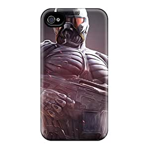 Excellent Iphone 4/4s Case Tpu Cover Back Skin Protector Crysis 3 Nanosuit