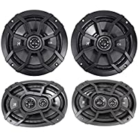 2) KICKER 43CSC654 CSC65 6.5 600w Car Audio Speakers+2) 43CSC6934 900w Speakers