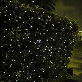 Signstek 55.8FT 200 LED Waterproof Light-White Solar String Powered String Light for Outdoor Garden Christmas Wedding Party*White*