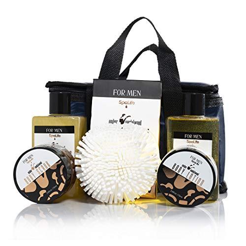Spa Life All Natural Bath and Body Luxury Spa Gift Set Basket (Mens Sandalwood) 2