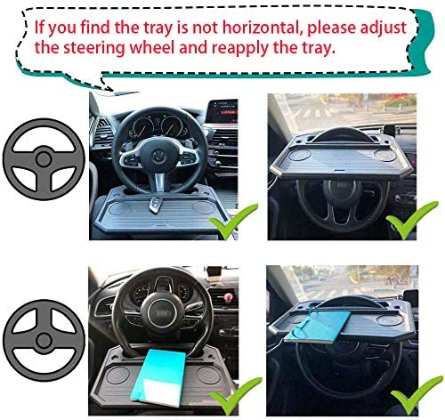 XBY-US Car Steering Wheel Tray,Auto Steering Wheel Desk/for Laptop Food,Snack,Dining,Drinking Steering Wheel Eating Table Tray for Vehicle Drivers
