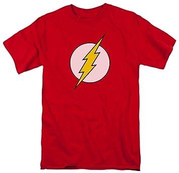 5423674546 Amazon.com: DC Comics Flash Logo Men's Red T-Shirt: Clothing