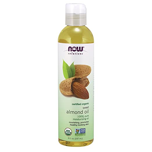 Now Solutions Organic Almond Oil, 8 Ounce by Now Foods