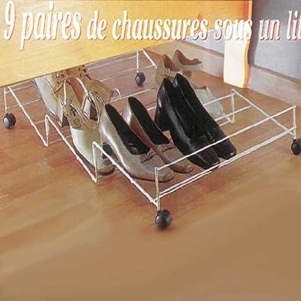 Zapatera para 9 pares de zapatos para guardar bajo la cama (acero ...