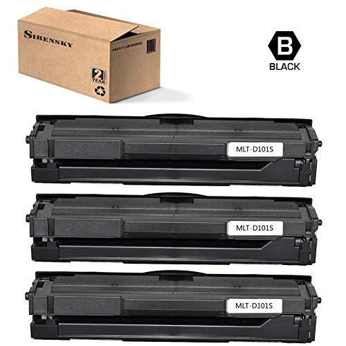 MLT-D101S (D101S) Toner Cartridge Black 3 Pack Compatible for Samsung ML-2160 ML-2161 ML-2162 ML-2165 ML-2166 SCX-3400 SCX-3401 SCX-3401FH SCX-3406W SCX-3406HW, Sirensky Brand