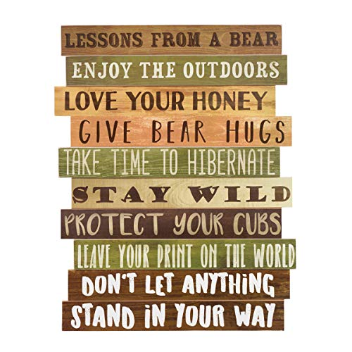 BLACK FOREST DECOR Bear Advice Wood Wall Sign
