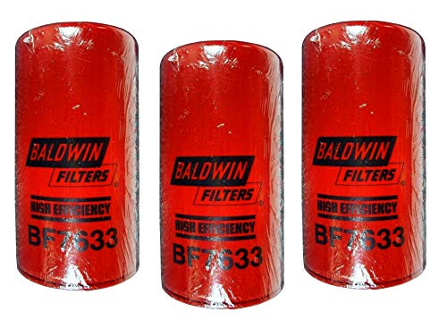 Baldwin BF7633 Heavy Duty Diesel Fuel Spin-On Filter (Pack of 3)