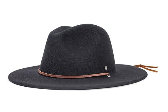 6370ec9d80ecc Amazon.com  Brixton Men s Field Wide Brim Felt Fedora Hat  Clothing