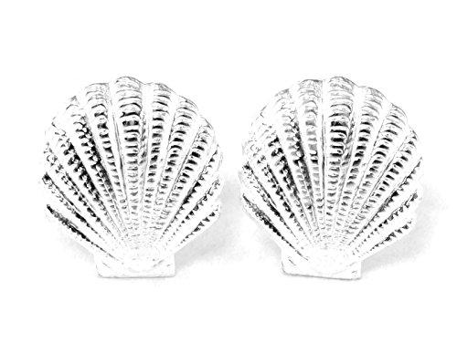 925 Sterling Silver Earring Cartilage For Women Ear Stud Helix Seashell 1/2