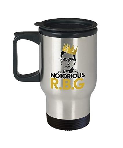 d9c185c28ae Amazon.com | Notorious Ruth Bader Ginsburg RBG Travel Mug, Law School Mug,  Lawyer Gift, Law Student Gift, Law Gift: Coffee Cups & Mugs