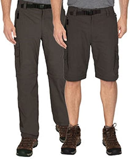 BC Clothing Men/'s Convertible Stretch Cargo Hiking Pants Shorts,Zippered Pockets