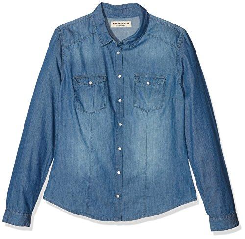 Tally Weijl Sblcosarah, Blusa para Mujer, Azul Blau (denim-bleu Ehu)