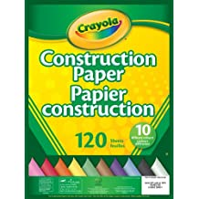 Crayola 120 Pages Construction Paper Pad, School and Craft Supplies, Teacher and Classroom Supplies, Gift for Boys and Girls, Kids, Ages 3,4, 5, 6 and Up, Stocking Stuffers, Arts and Crafts