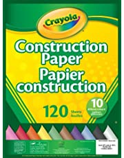 Crayola Construction Paper Pad, School and Craft Supplies, Teacher and Classroom Supplies, Gift for Boys and Girls, Kids, Ages 3,4, 5, 6 and Up
