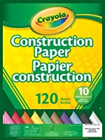 Crayola  Construction Paper Pad, School and Craft Supplies, Teacher and Classroom Supplies, Gift for Boys and Girls,...