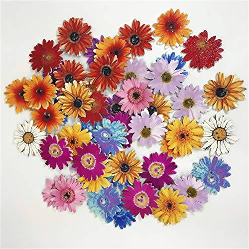 Tofover 100 Pcs Wood Buttons, Sunflower Shaped Mixed 2 Holes Buttons 1 Inch Buttons Vintage Assorted Buttons Decorative Buttons Flower Buttons Round Buttons for DIY Sewing Craft