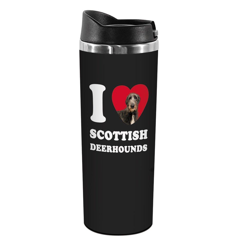 14-Ounce Tree-Free Greetings TT42115 I Heart Scottish Deerhounds 18-8 Double Wall Stainless Artful Tumbler
