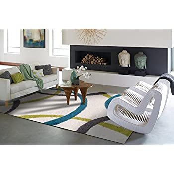Amazon Com Modern White Shag Rug For Bedroom Washable