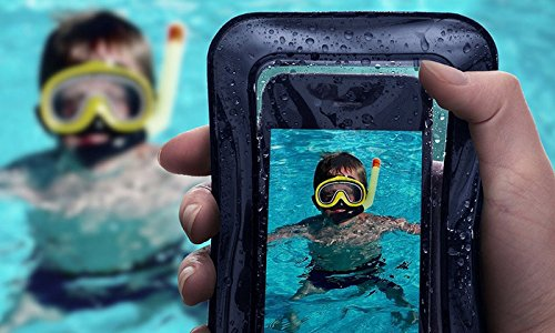 Large Product Image of Universal Waterproof Case, JOTO Cellphone Dry Bag Pouch for iPhone X, 8/7/7 Plus/6S/6/6S Plus, Samsung Galaxy S9/S9 Plus/S8/S8 Plus/Note 8 6 5 4, Google Pixel 2 HTC LG Sony MOTO up to 6.0